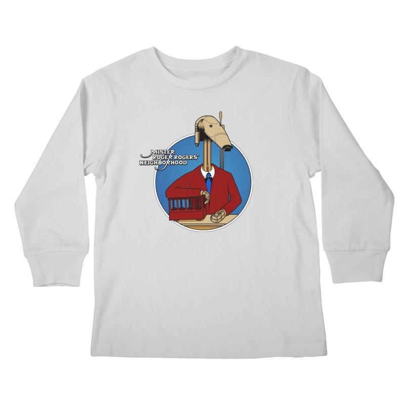 Mr. Roger Roger Kids Longsleeve T-Shirt by 9th Mountain Threads