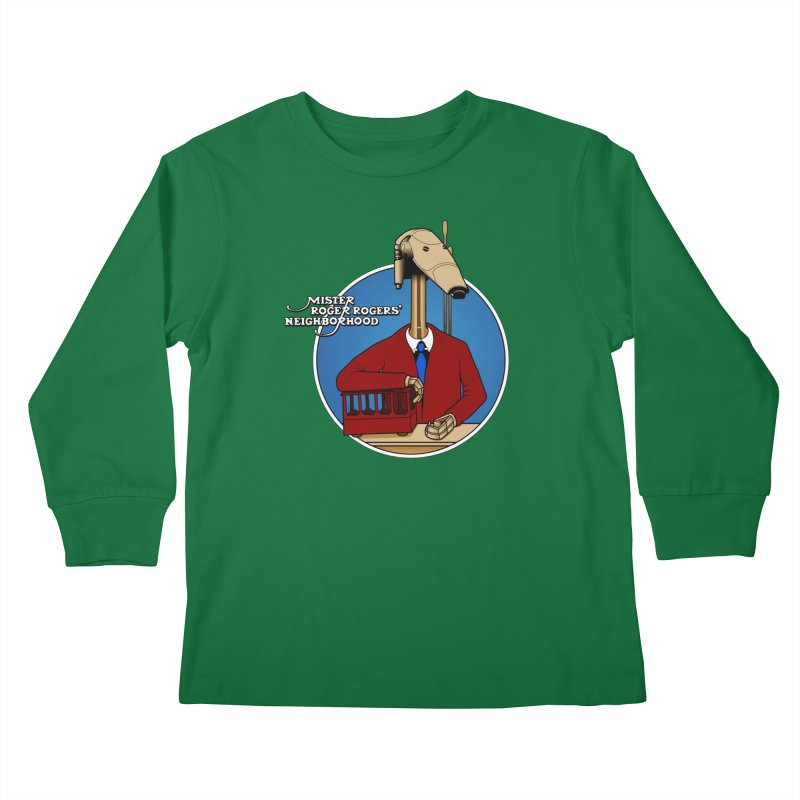 Mr. Roger Roger Kids Longsleeve T-Shirt by 9th Mountain Threads