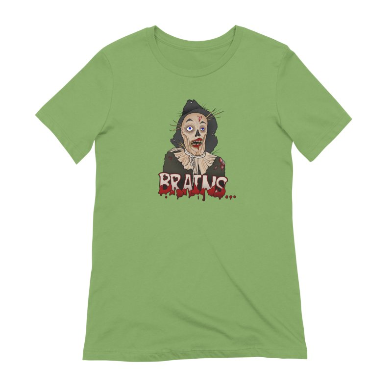 Brains Women's Extra Soft T-Shirt by 9th Mountain Threads