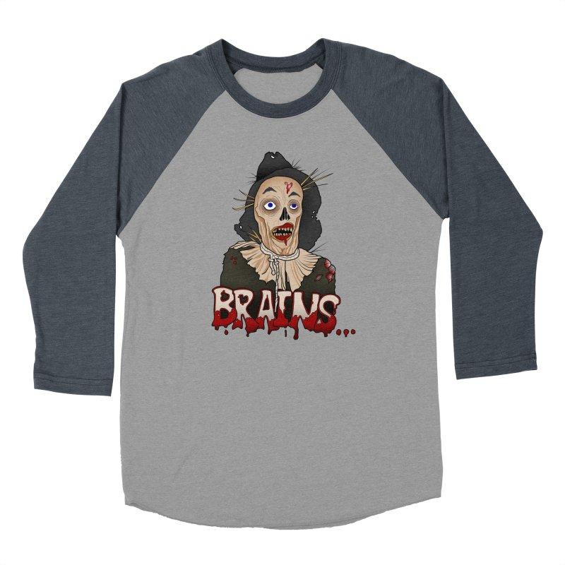 Brains Women's Baseball Triblend Longsleeve T-Shirt by 9th Mountain Threads