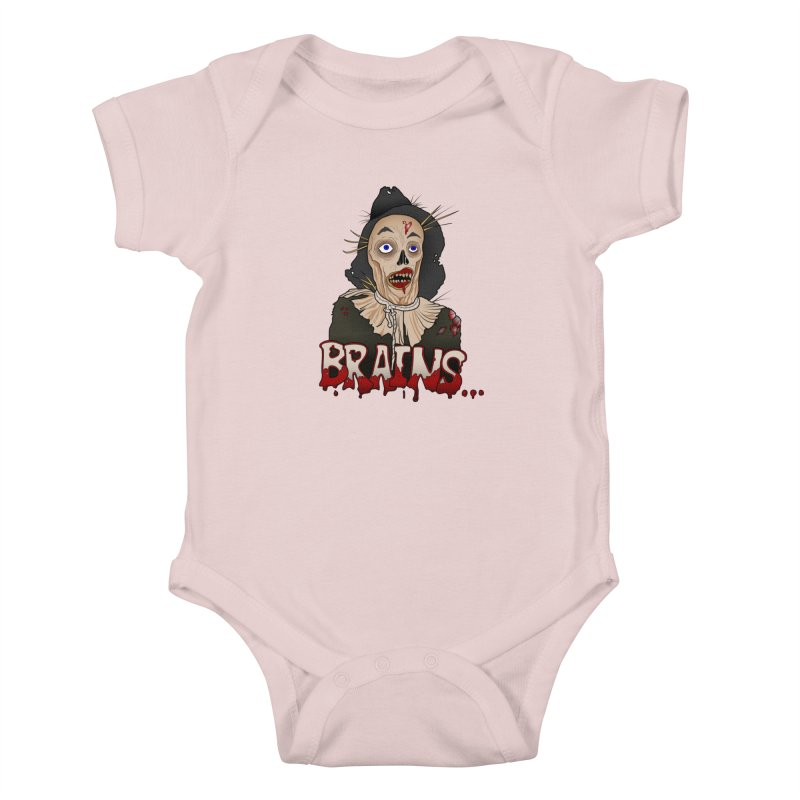 Brains Kids Baby Bodysuit by 9th Mountain Threads
