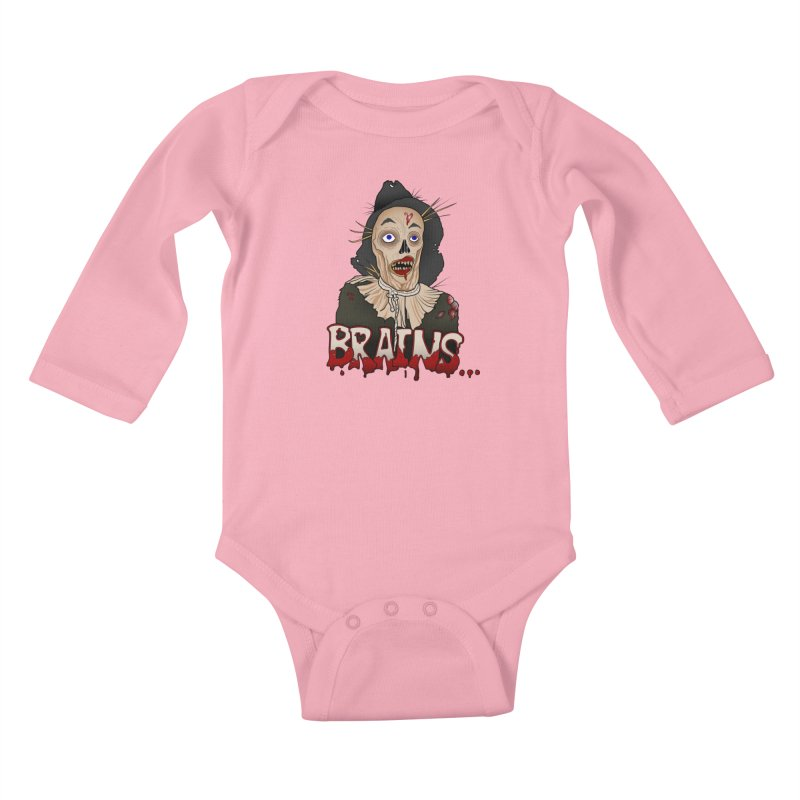 Brains Kids Baby Longsleeve Bodysuit by 9th Mountain Threads