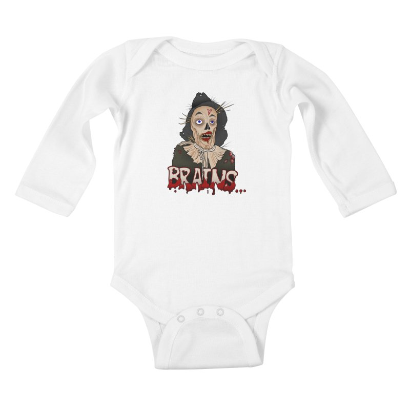 Brains Kids Baby Longsleeve Bodysuit by 9th Mountain Threads