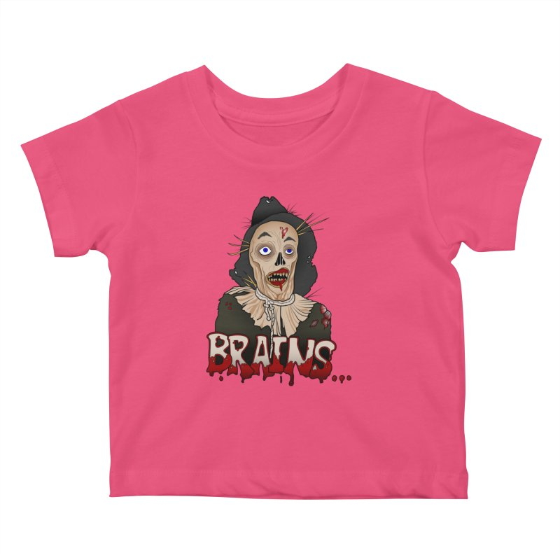 Brains Kids Baby T-Shirt by 9th Mountain Threads