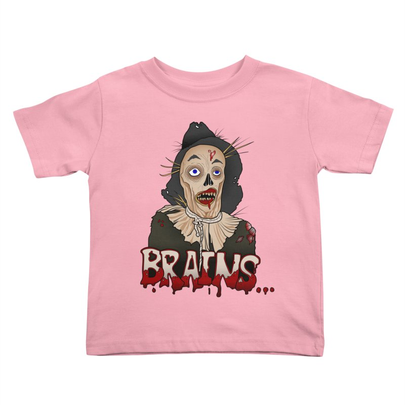 Brains Kids Toddler T-Shirt by 9th Mountain Threads