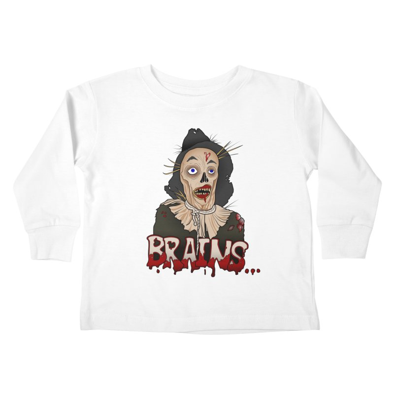 Brains Kids Toddler Longsleeve T-Shirt by 9th Mountain Threads