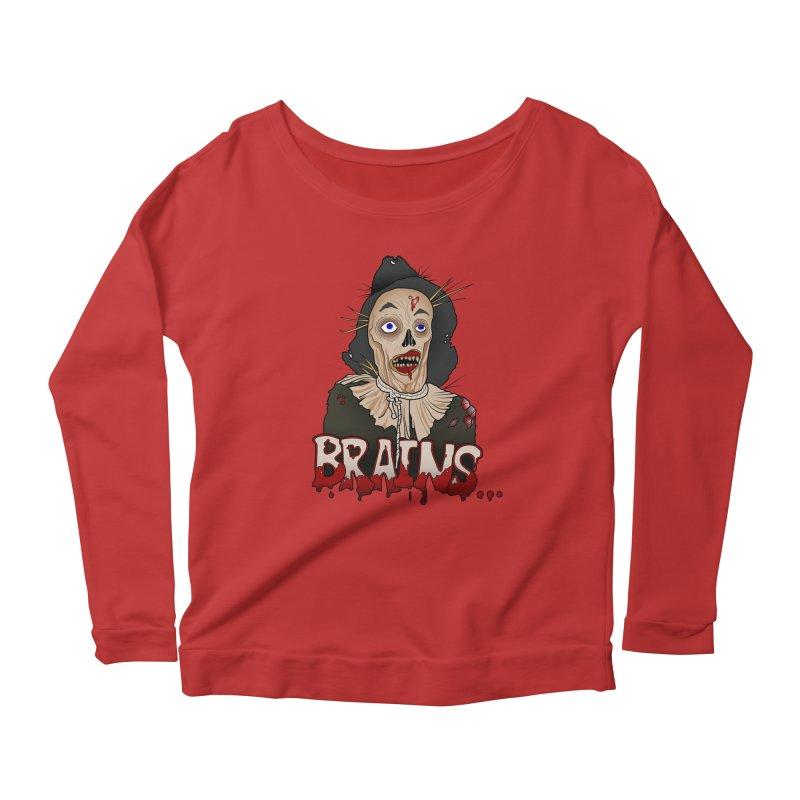 Brains Women's Scoop Neck Longsleeve T-Shirt by 9th Mountain Threads