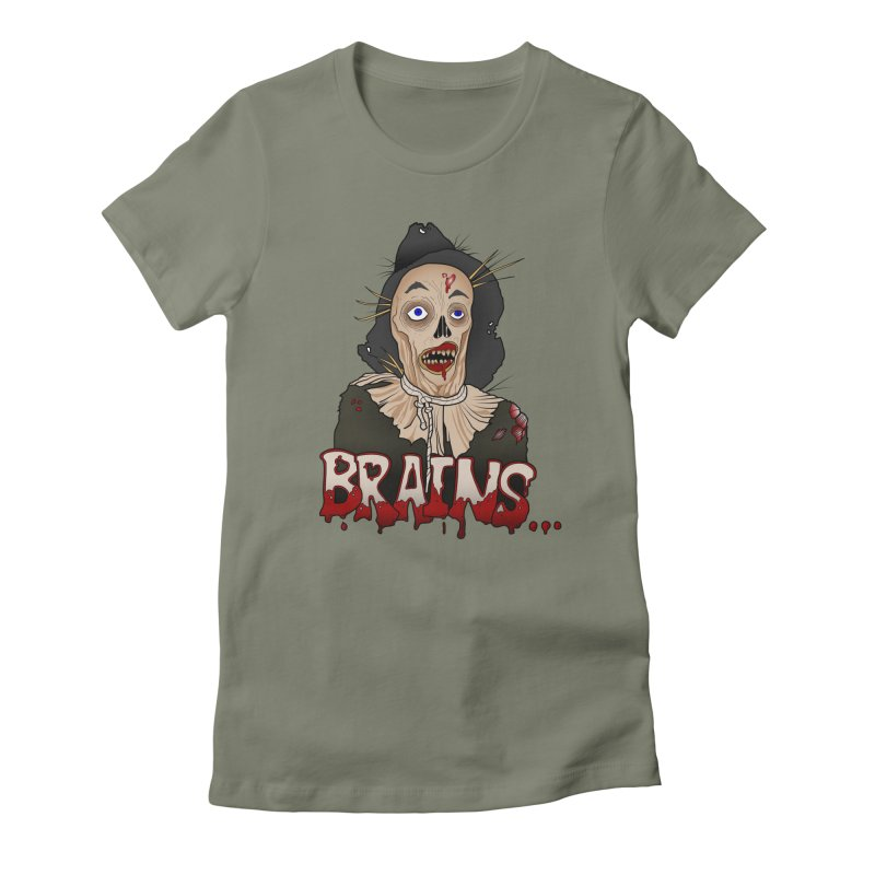 Brains Women's Fitted T-Shirt by 9th Mountain Threads