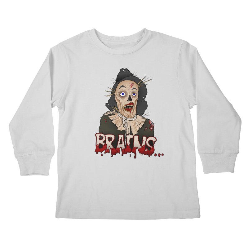 Brains Kids Longsleeve T-Shirt by 9th Mountain Threads