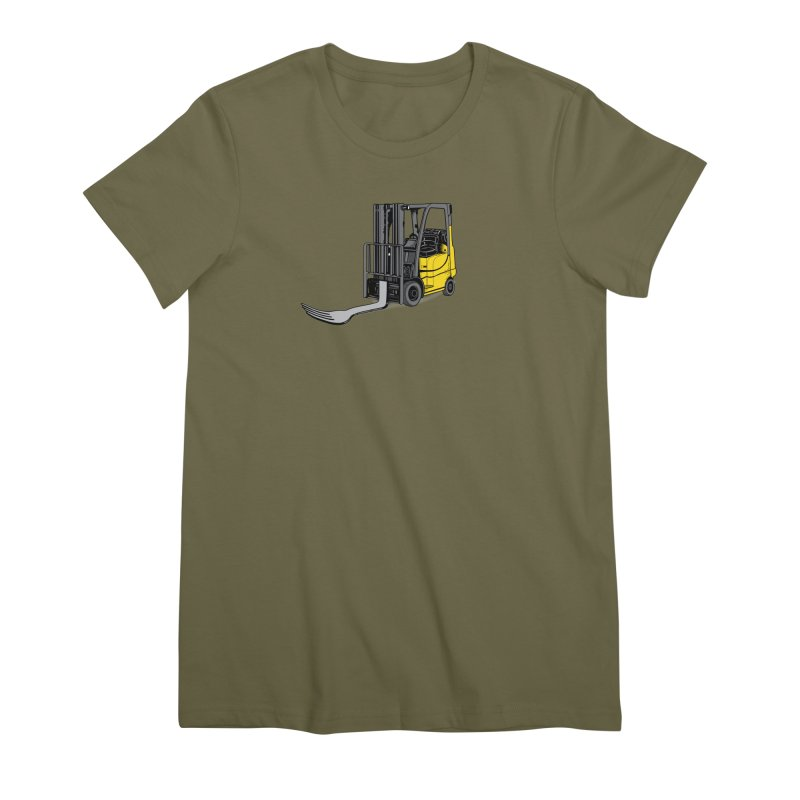 Forklift Women's Premium T-Shirt by 9th Mountain Threads