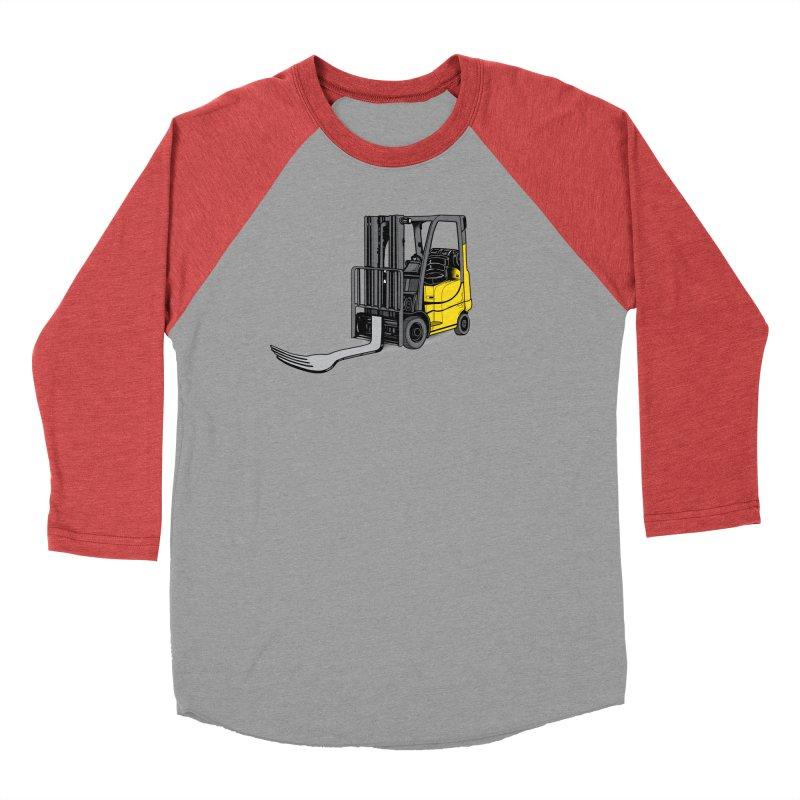 Forklift Women's Baseball Triblend Longsleeve T-Shirt by 9th Mountain Threads
