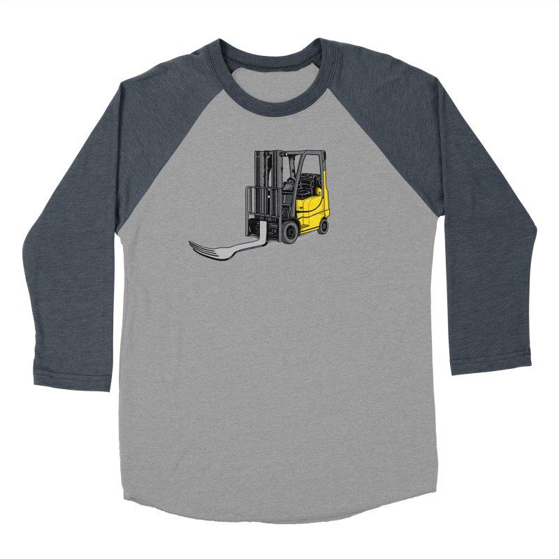 Forklift Men's Baseball Triblend Longsleeve T-Shirt by 9th Mountain Threads