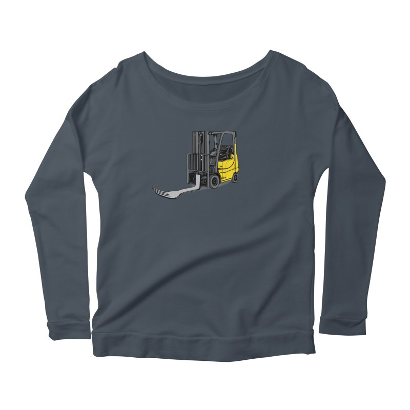 Forklift Women's Scoop Neck Longsleeve T-Shirt by 9th Mountain Threads
