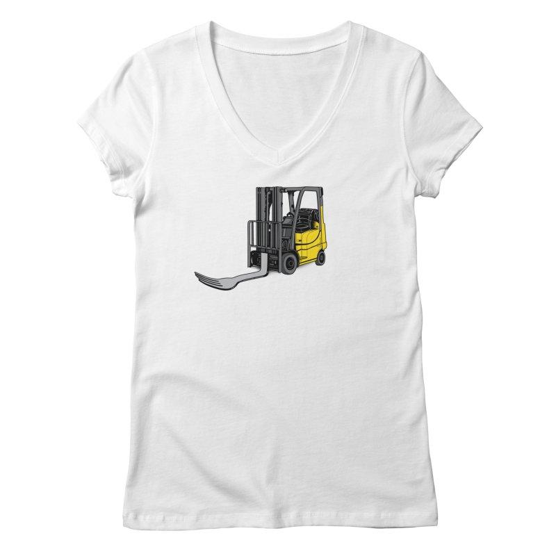 Forklift Women's Regular V-Neck by 9th Mountain Threads