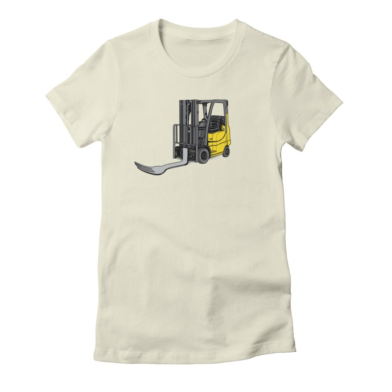 Forklift Women's Fitted T-Shirt by 9th Mountain Threads