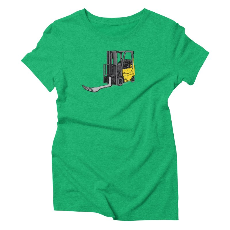 Forklift Women's Triblend T-Shirt by 9th Mountain Threads