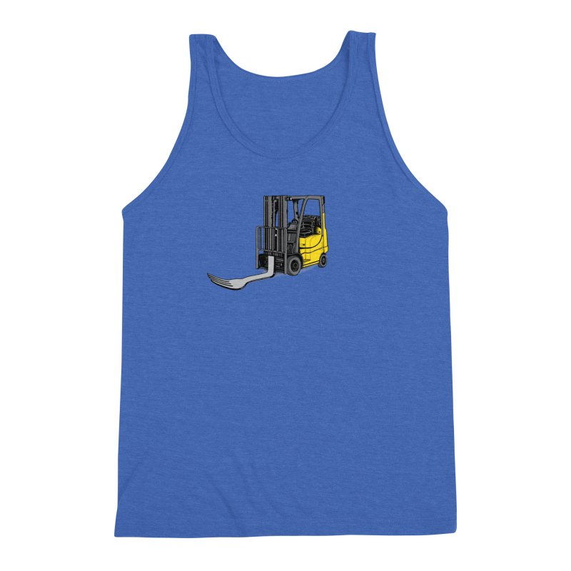 Forklift Men's Triblend Tank by 9th Mountain Threads