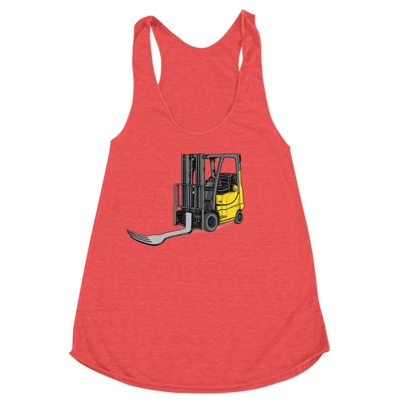 Forklift Women's Racerback Triblend Tank by 9th Mountain Threads
