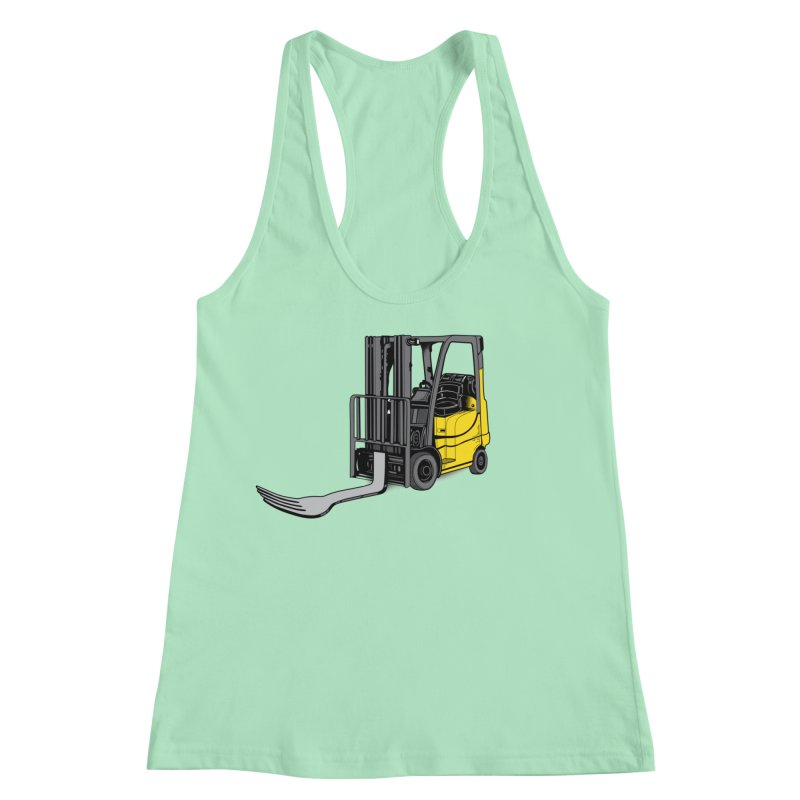 Forklift Women's Racerback Tank by 9th Mountain Threads