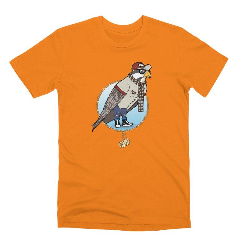 Millennial Falcon Men's Premium T-Shirt by 9th Mountain Threads