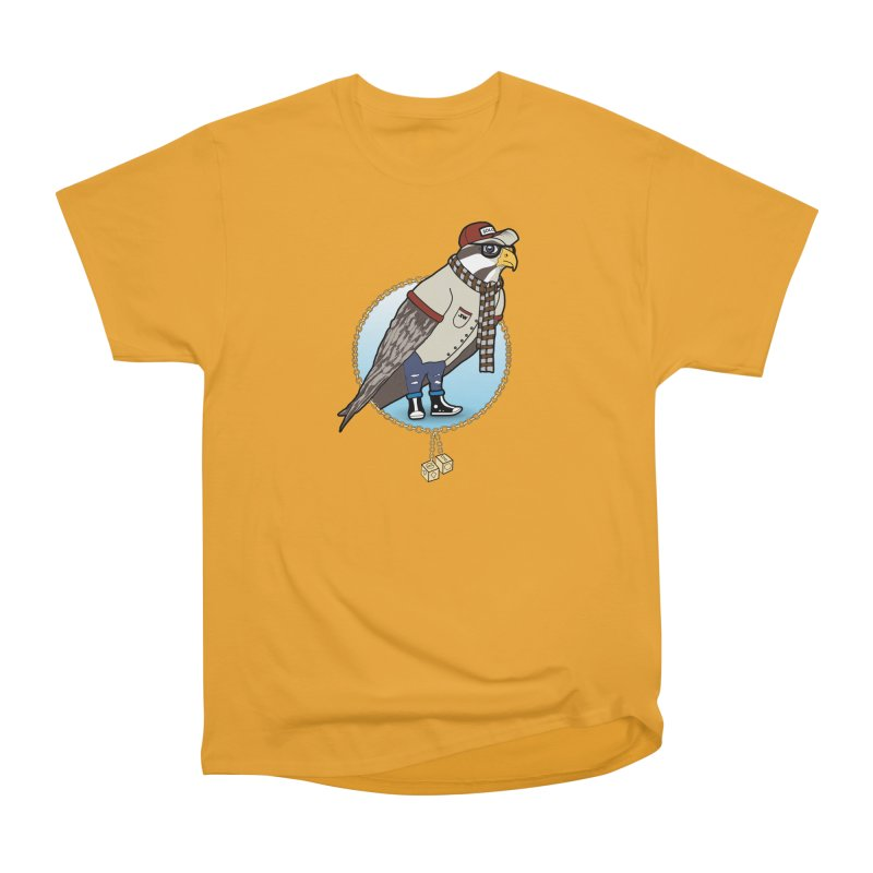 Millennial Falcon Men's Heavyweight T-Shirt by 9th Mountain Threads