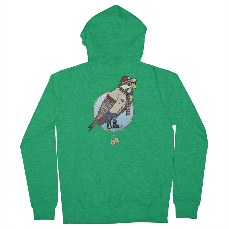 Millennial Falcon Men's French Terry Zip-Up Hoody by 9th Mountain Threads