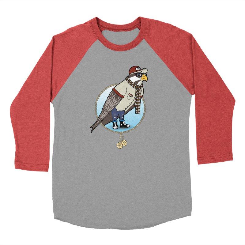 Millennial Falcon Men's Baseball Triblend Longsleeve T-Shirt by 9th Mountain Threads