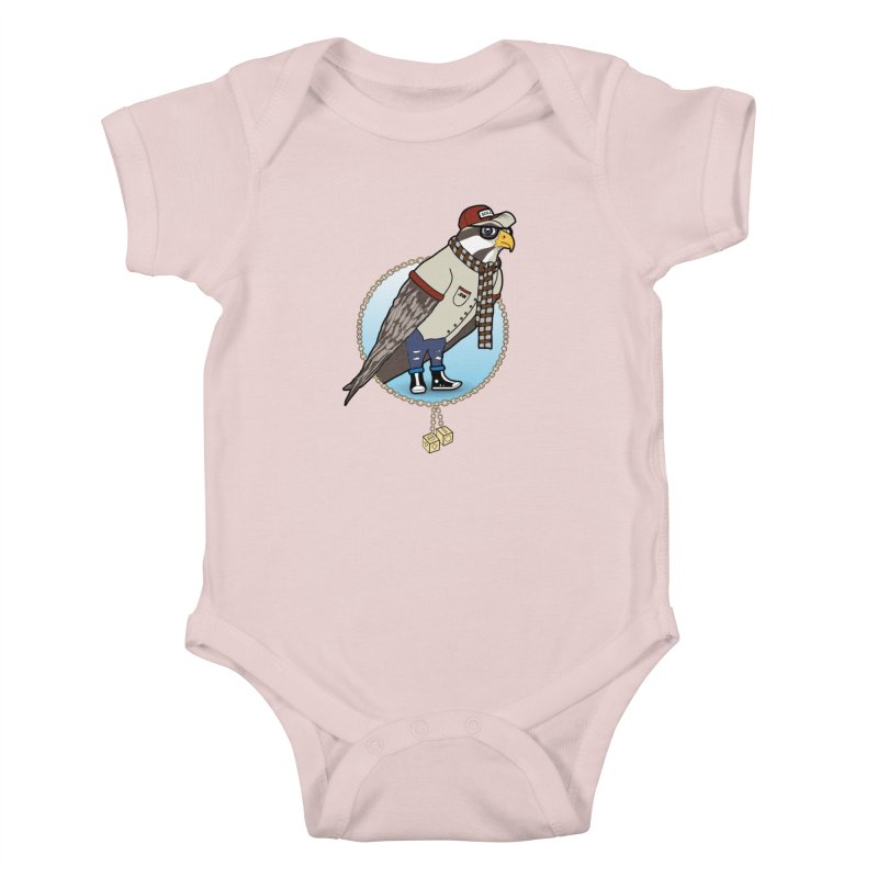 Millennial Falcon Kids Baby Bodysuit by 9th Mountain Threads