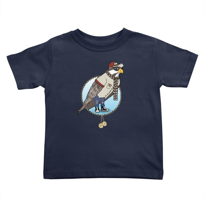 Millennial Falcon Kids Toddler T-Shirt by 9th Mountain Threads