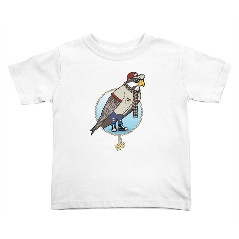 Millennial Falcon Kids Toddler T-Shirt by 9th Mountain Threads