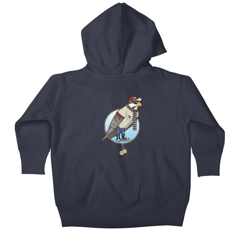 Millennial Falcon Kids Baby Zip-Up Hoody by 9th Mountain Threads