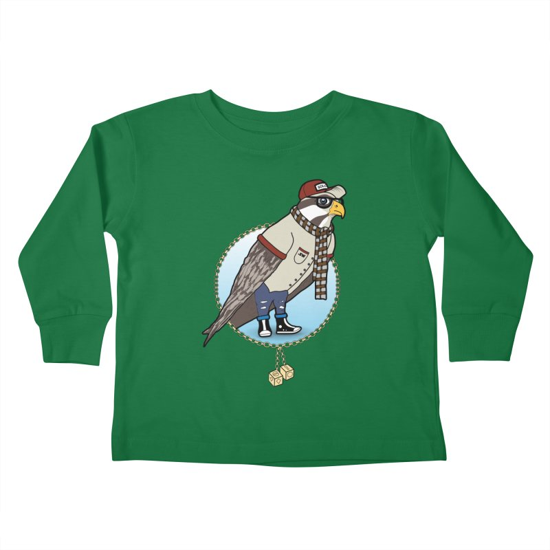 Millennial Falcon Kids Toddler Longsleeve T-Shirt by 9th Mountain Threads