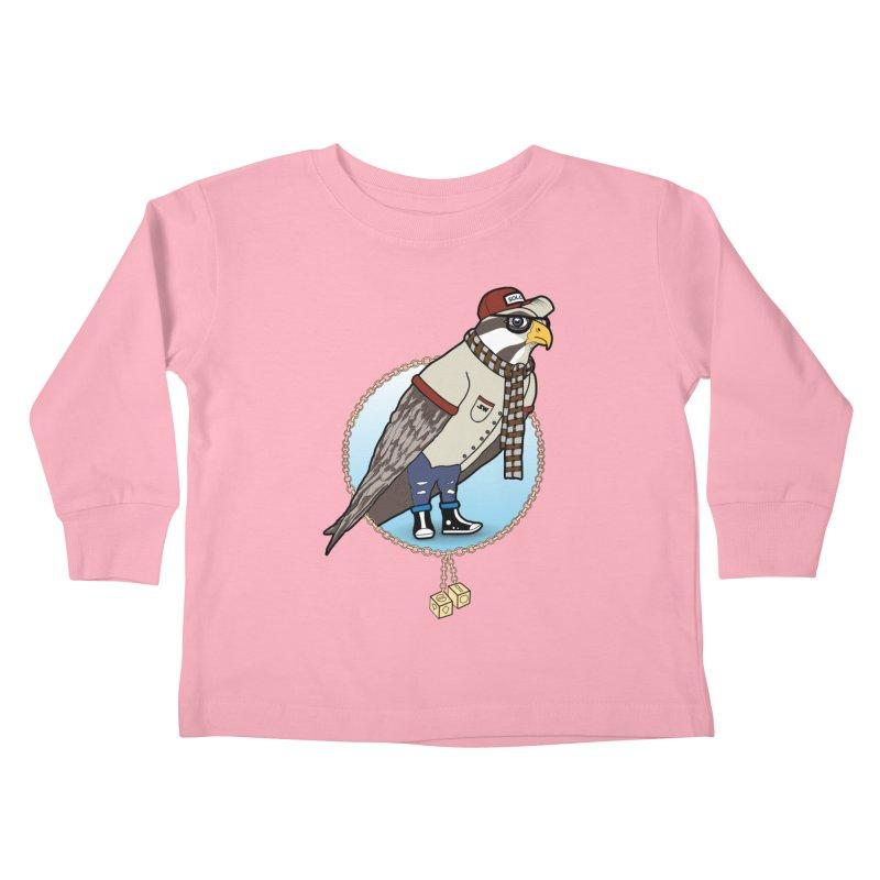 Millennial Falcon Kids Toddler Longsleeve T-Shirt by 9th Mountain Threads