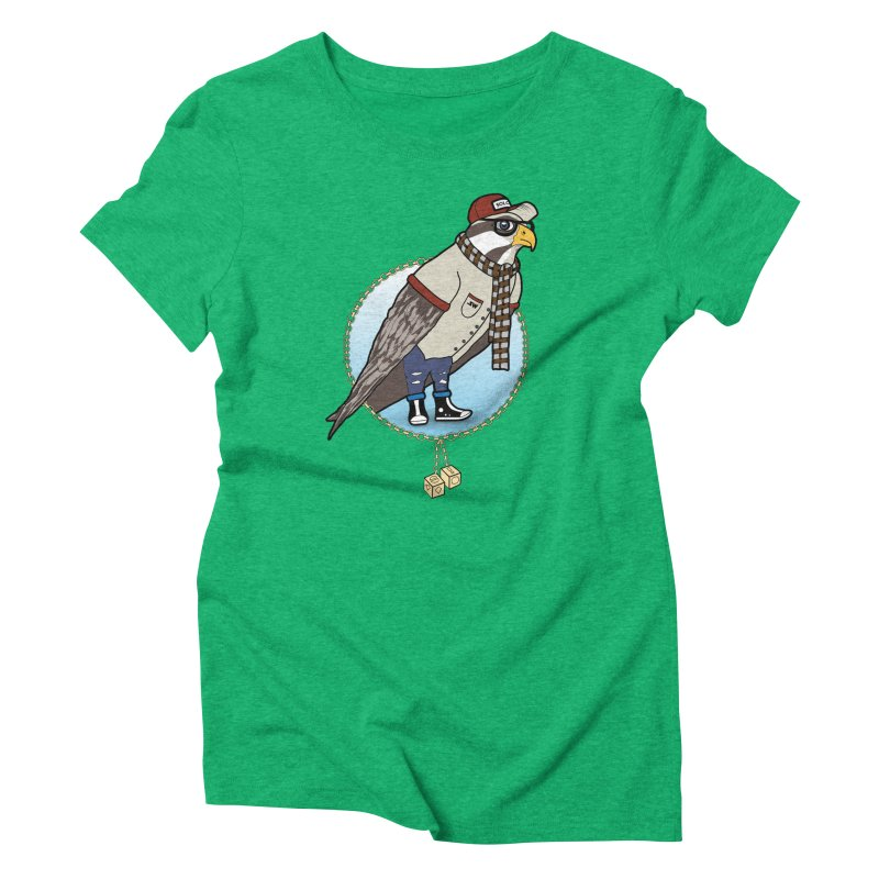 Millennial Falcon Women's Triblend T-Shirt by 9th Mountain Threads