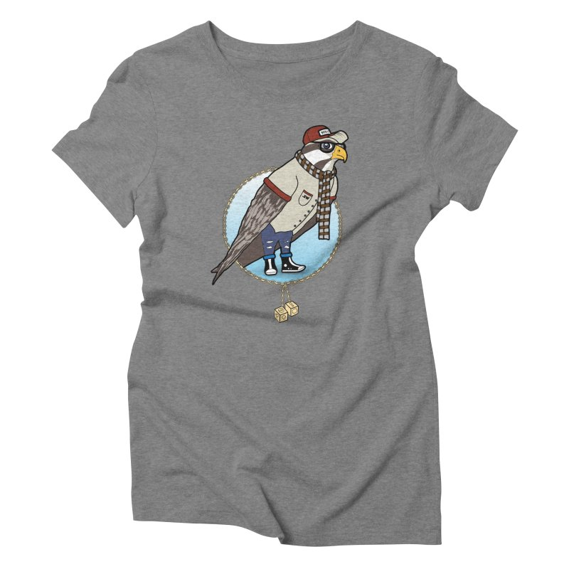 Millennial Falcon Women's Triblend T-Shirt by 9th Mountain Threads