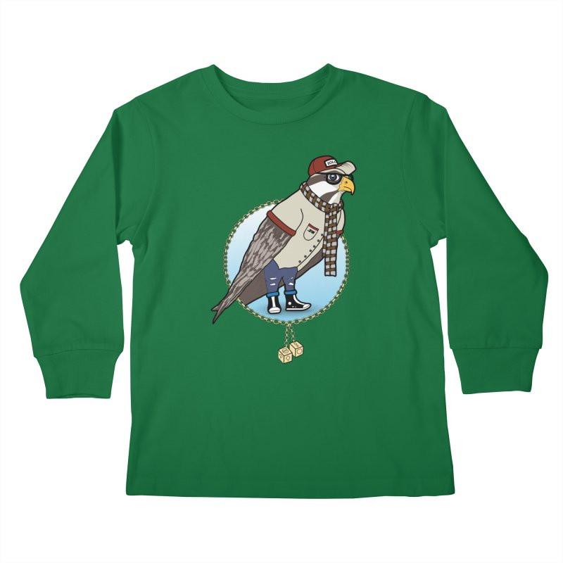 Millennial Falcon Kids Longsleeve T-Shirt by 9th Mountain Threads