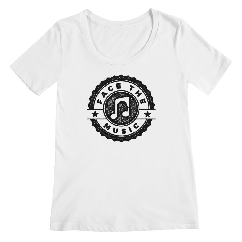 Face the Music Women's Regular Scoop Neck by 9th Mountain Threads