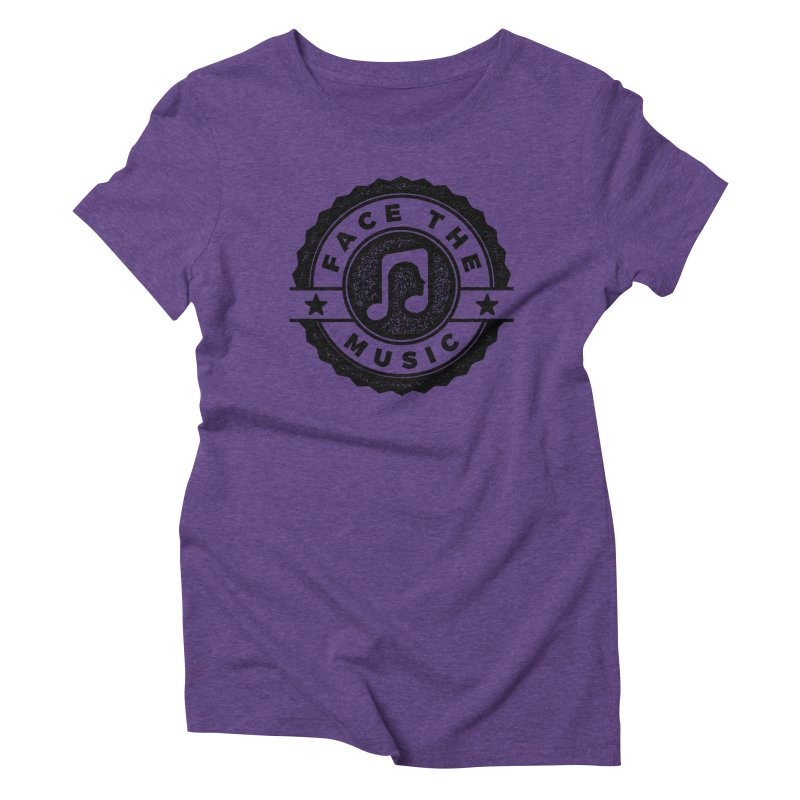 Face the Music Women's Triblend T-Shirt by 9th Mountain Threads