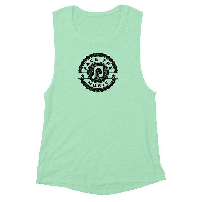 Face the Music Women's Muscle Tank by 9th Mountain Threads