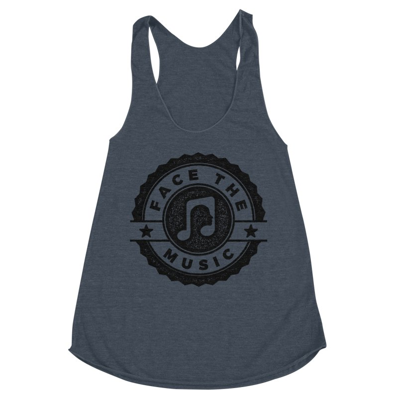 Face the Music Women's Racerback Triblend Tank by 9th Mountain Threads