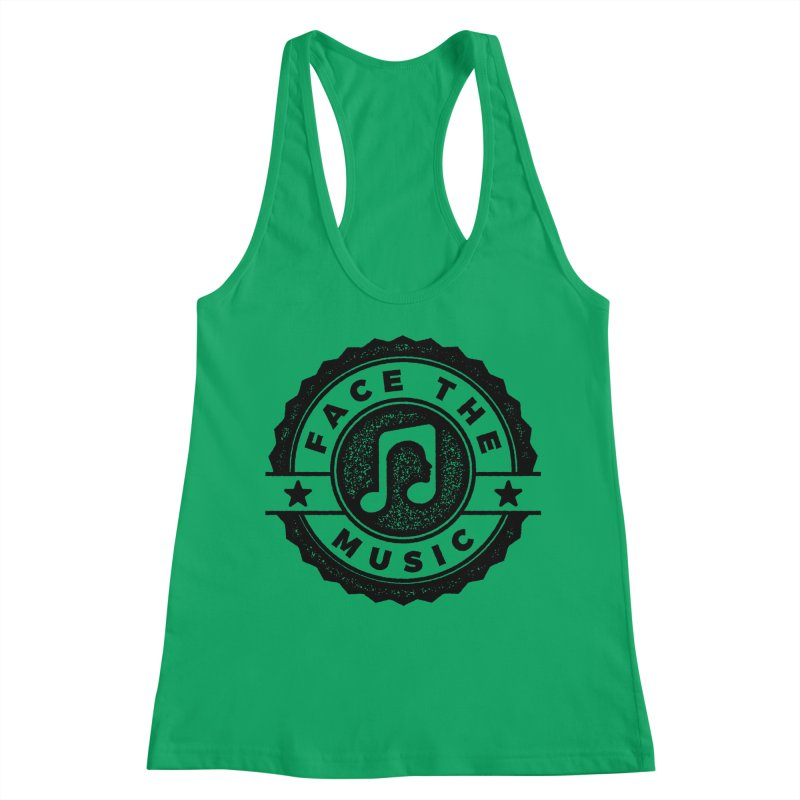 Face the Music Women's Racerback Tank by 9th Mountain Threads