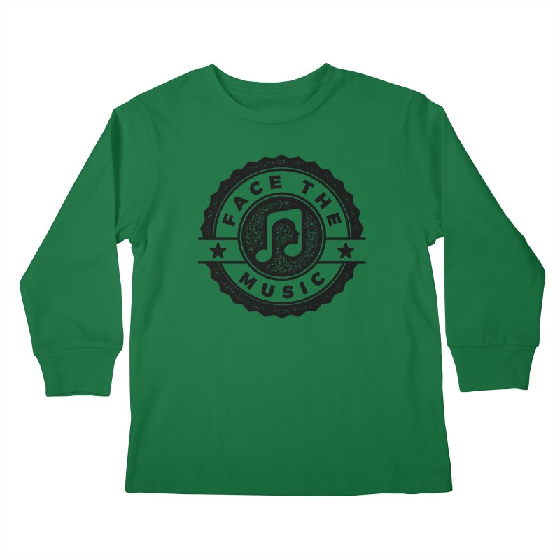 Face the Music Kids Longsleeve T-Shirt by 9th Mountain Threads