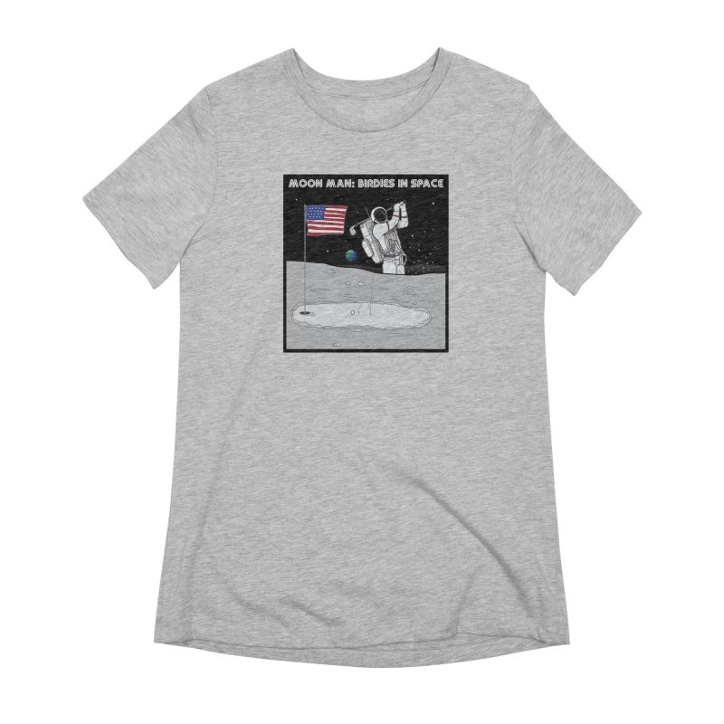MOON MAN: Birdies in Space Women's Extra Soft T-Shirt by 9th Mountain Threads
