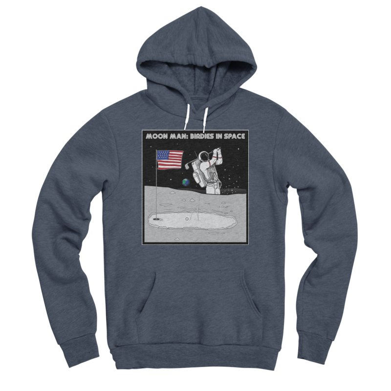 MOON MAN: Birdies in Space Men's Sponge Fleece Pullover Hoody by 9th Mountain Threads