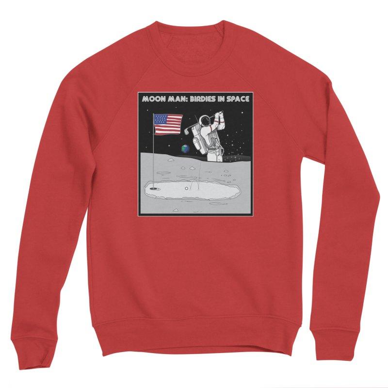 MOON MAN: Birdies in Space Women's Sponge Fleece Sweatshirt by 9th Mountain Threads
