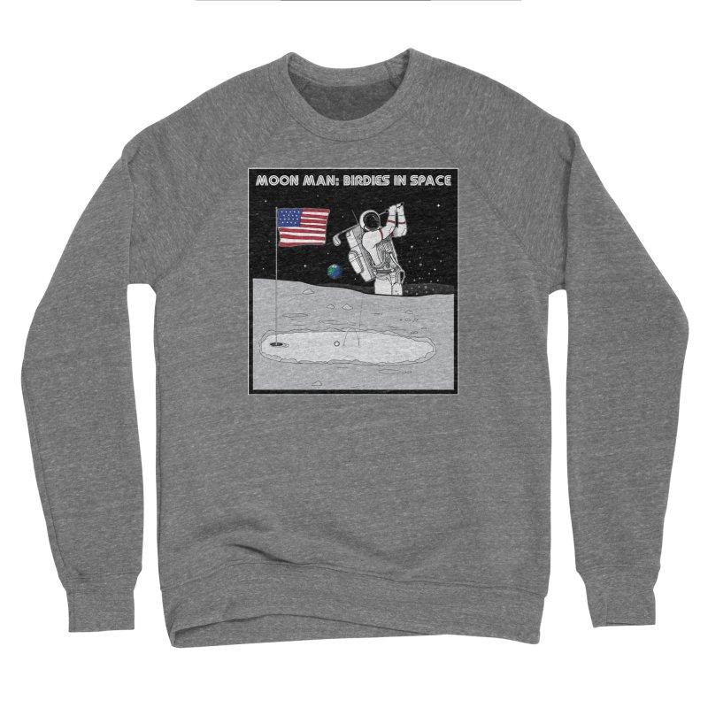 MOON MAN: Birdies in Space Men's Sponge Fleece Sweatshirt by 9th Mountain Threads