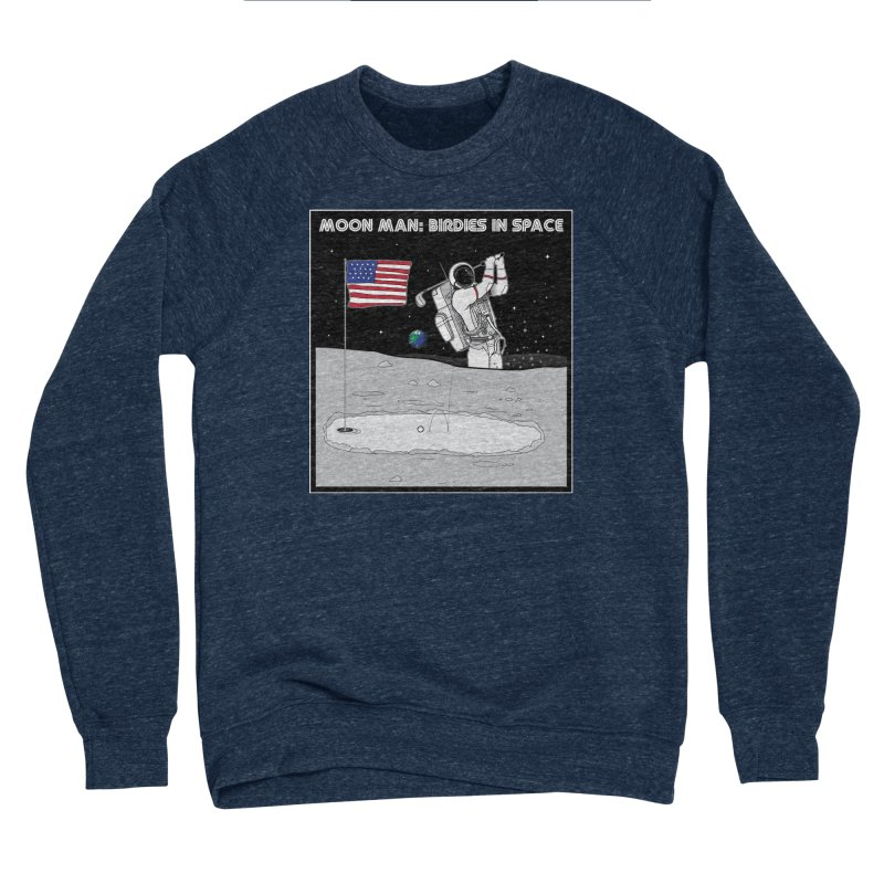 MOON MAN: Birdies in Space Men's Sponge Fleece Sweatshirt by 9th Mountain Threads