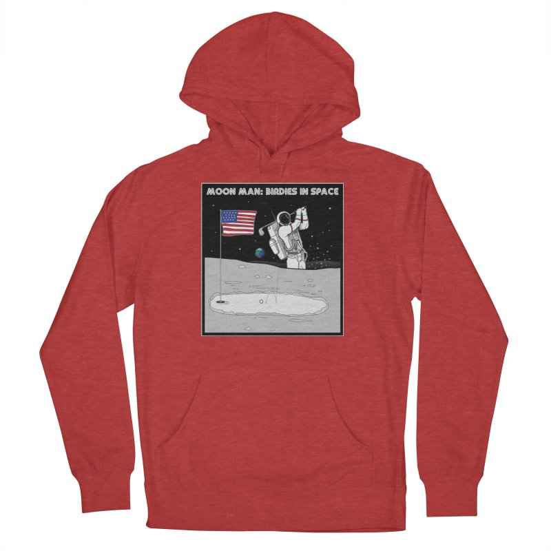 MOON MAN: Birdies in Space Women's French Terry Pullover Hoody by 9th Mountain Threads