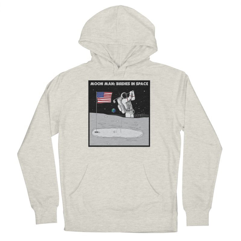 MOON MAN: Birdies in Space Men's French Terry Pullover Hoody by 9th Mountain Threads