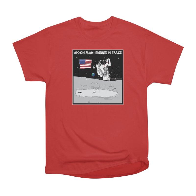 MOON MAN: Birdies in Space Men's Heavyweight T-Shirt by 9th Mountain Threads